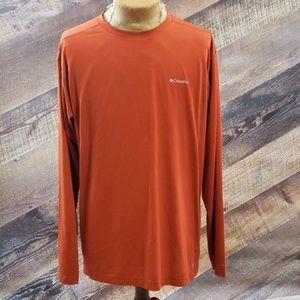 Columbia Sportswear CO Orange long-sleeved T sz XL